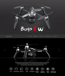 2019 (New upgraded) MJX Bugs 5W GPS Drone with 4K Camera FPV Brushless Quadcopter. 5G  WIFI