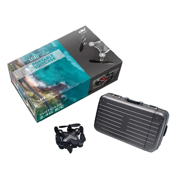 New! Mini Drone in mini Luggage Controller. Performs 360-degree rotation flip. Headless mode, altitude hold. Quadcopter Remote Control with Real-time 480P Camera