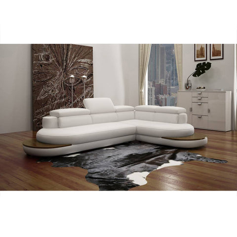 KOK USA 121514 Italian Leather Sofa Sectional