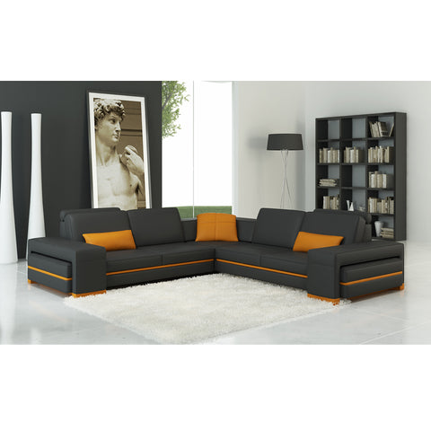 KOKUSA 125070C Sofa Sectional Bonded leather