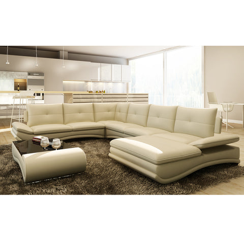 KOK USA 125095 Sofa Sectional bonded leather