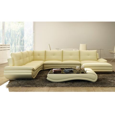 KOKUSA 125095 Sofa Sectional bonded leather