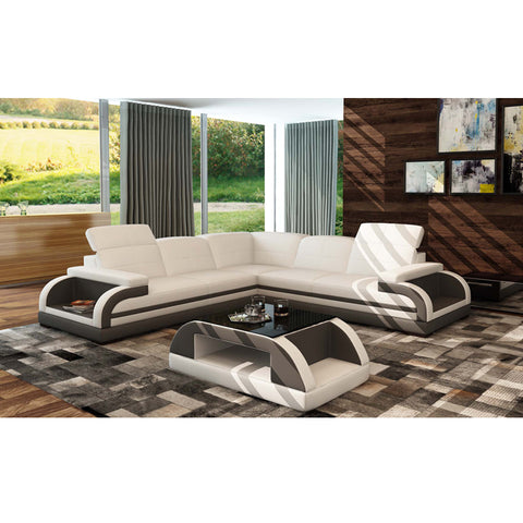 KOK USA 125132D Leather Sofa Sectional