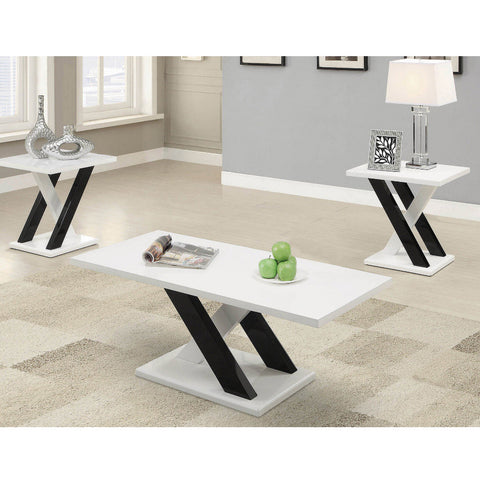 Contemporary White 3PC Table Set (Local pick up only)