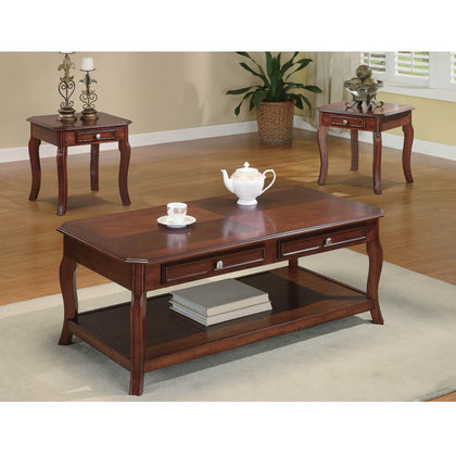 3 PC Occasional Bourbon Coffee Table Set  (Local pick up only)