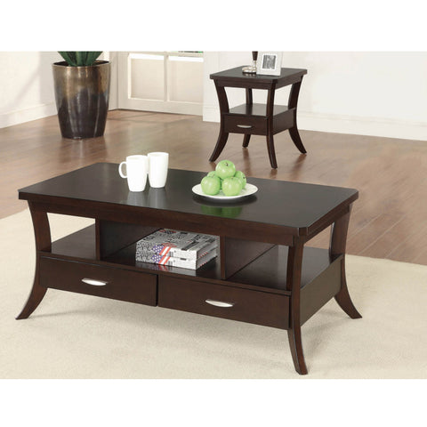 Occasional Transitional Espresso Coffee Table (Local pick up only)