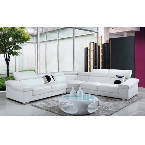 KOK USA 128015 Leather Sofa Sectional