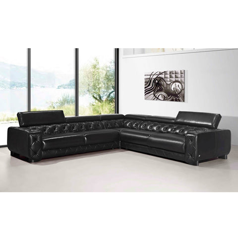 KOK USA 12911B Italian Leather Sofa Sectional