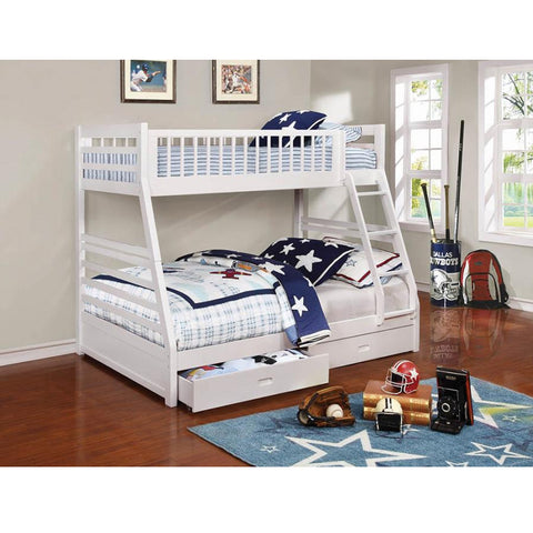Ashton White Twin-Over-Full Bunk Bed (Local Pick up only)
