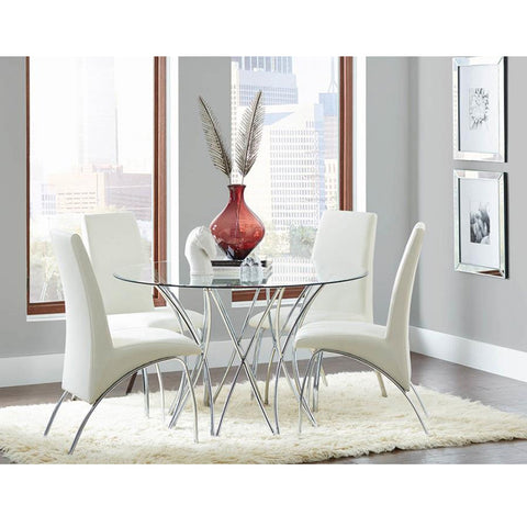 Cabianca Contemporary 11106921 Chrome Dining Table (Local Pick Up only)