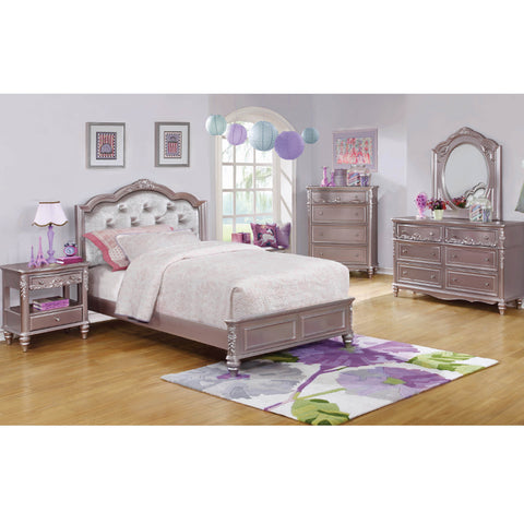 Caroline Metallic Lilac Bed Collection (Local Pick up only)