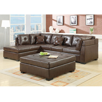 Darie 11500686 Casual Brown Sectional (Local pick up only)