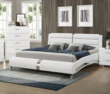 Felicity White Upholstered Bed Collection (Local Pick up only)
