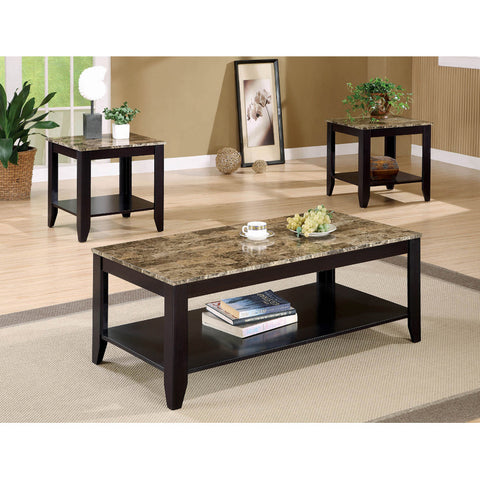 Transitional Marble Look Top 3PC Table Set (Local pick up only)