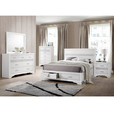 Miranda Contemporary Queen 4PC Bed Set (Local Pick up only)