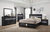 Miranda Contemporary Black Queen 4PC Bed Set (Local Pick up only)