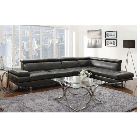 Piper 11503029 Charcoal Sectional Sofa (Local pick up only)