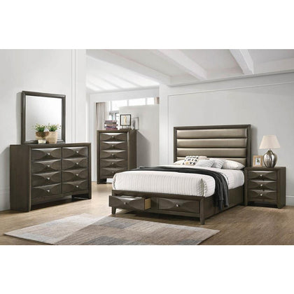 Salano Mod Grey Queen 4PC Bedroom Set (Local Pick up only)