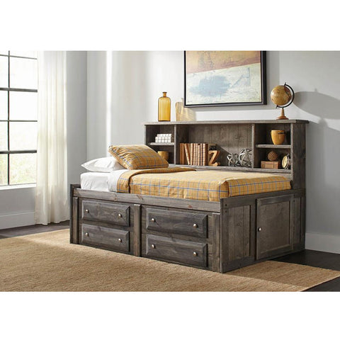 Wrangle Hill Gun Smoke Twin Storage Daybed (Local Pick up only)