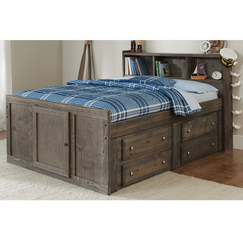 Wrangle Hill Gun Smoke Twin Storage Bed (Local Pick up only)