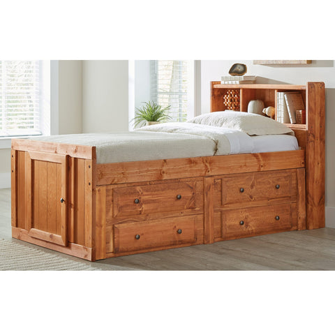 Wrangle Hill Amber Wash Twin Storage Bed (Local Pick up only)