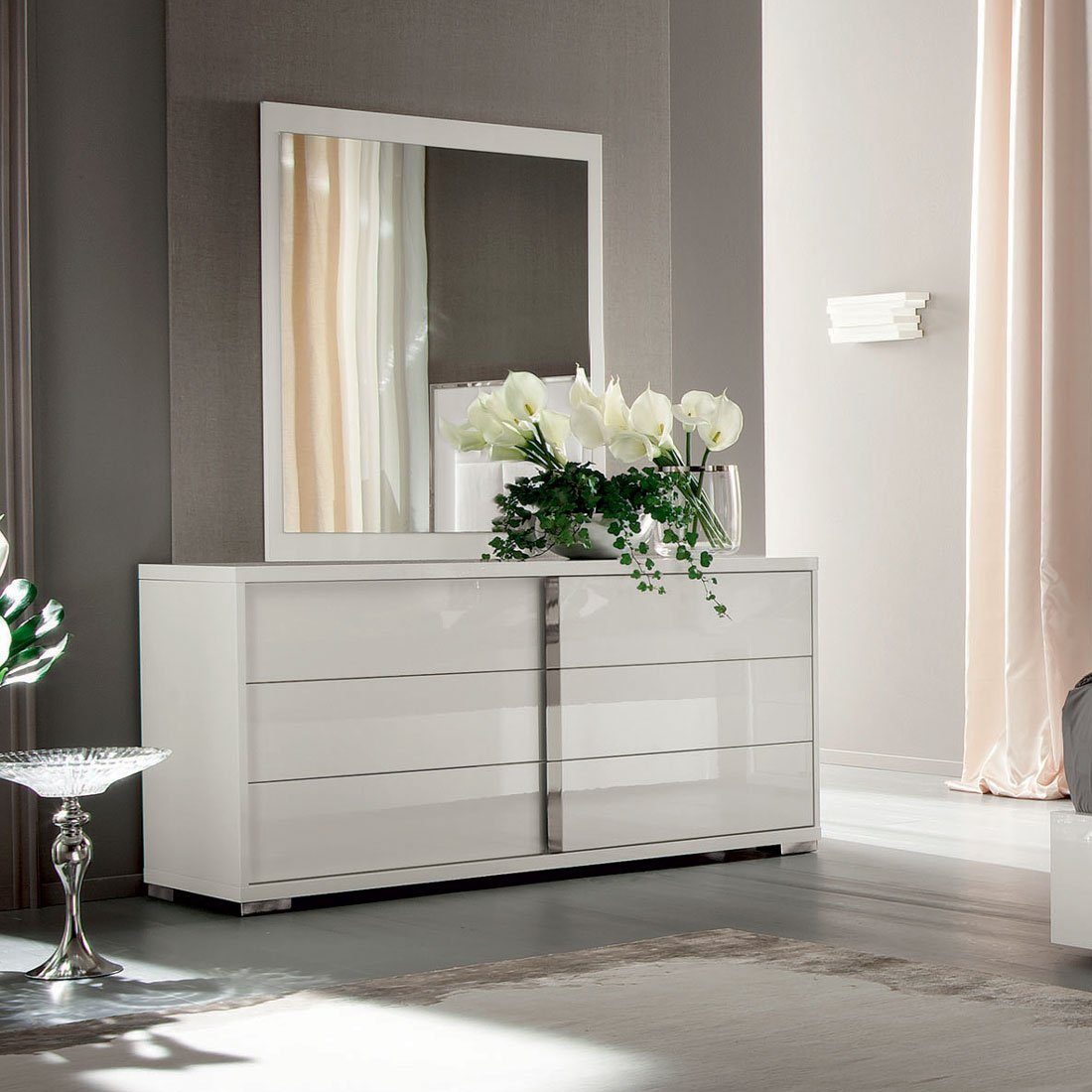 ALF Imperia dresser and mirror white