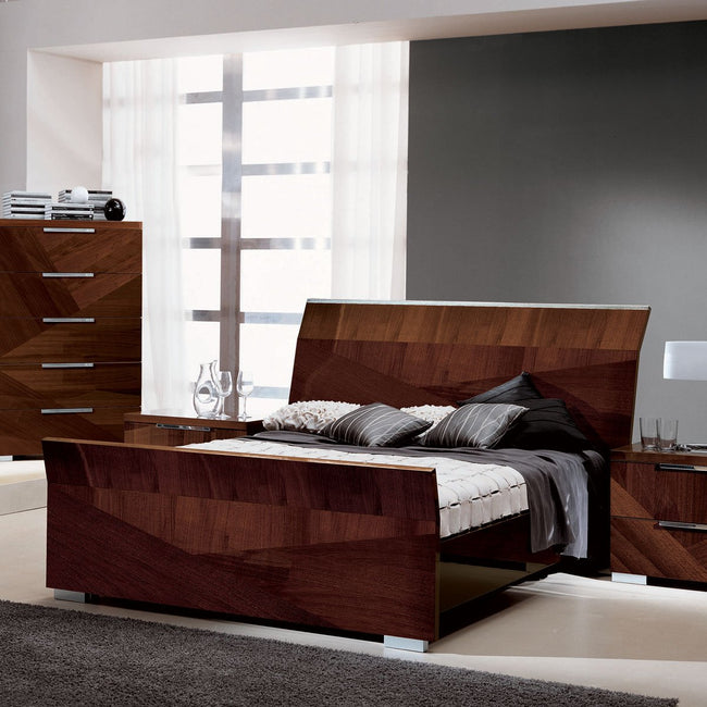 ALF Capri bed walnut Canaletto