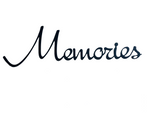 Memories - Black metal, decorative wall word - Homestead House