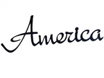 America - Black metal, decorative wall word - Homestead House