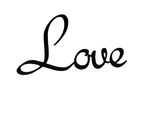 Love - Black metal, decorative wall word - Homestead House