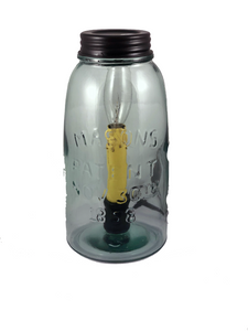 Hearthside, glass Mason jar lamp - Homestead House