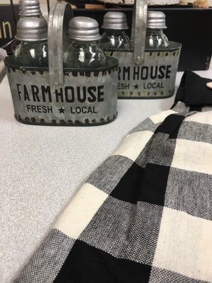 Farmhouse S&P shaker set - Homestead House