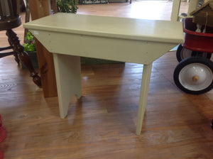 Small, off white painted bench (Pick up only) - Homestead House