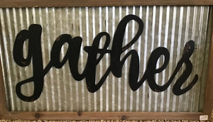 Gather sign wall art - Homestead House