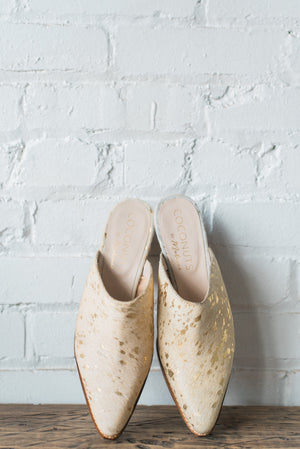 Camelot Gold Spot Mules