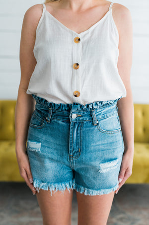 Flare of Fun Denim Shorts