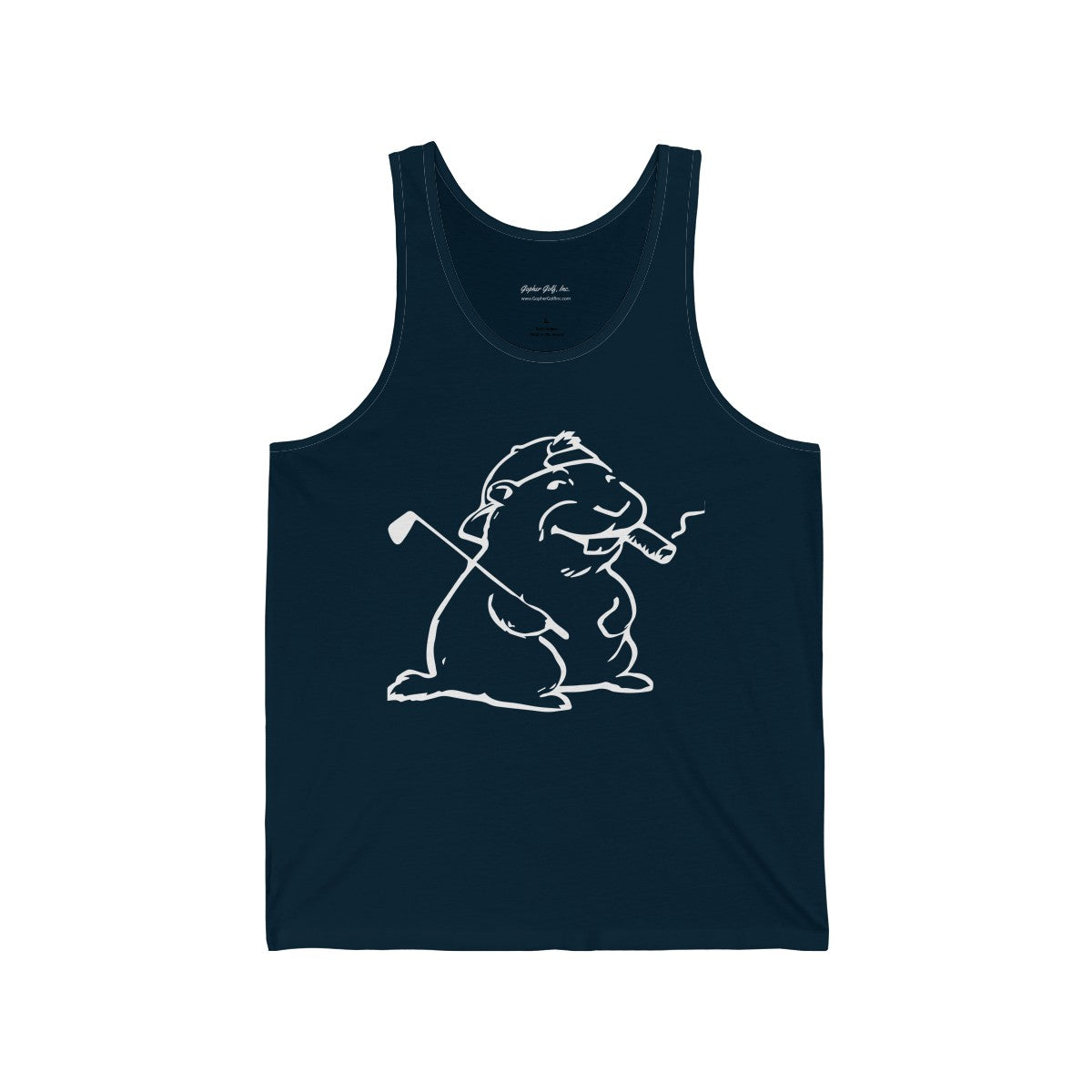 Gopher Golf - Unisex Jersey Tank - Gopher Golf