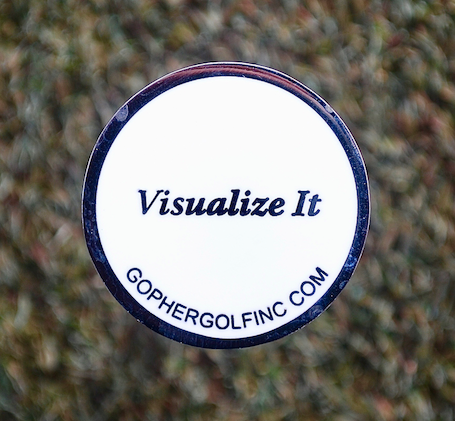 "Ball Marker III     ""Visualize It"" - Gopher Golf"