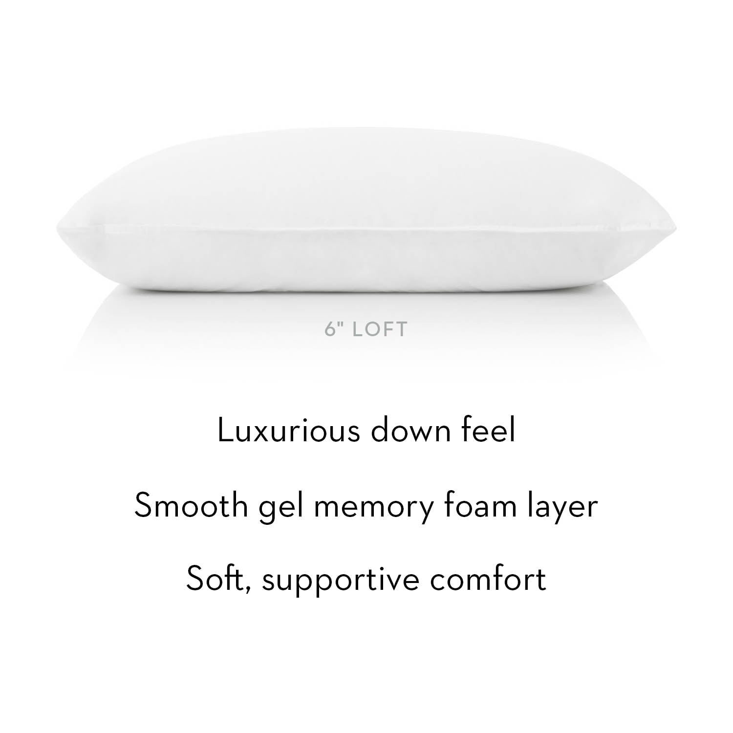 Gelled Microfiber + Gel Dough Layer Pillow - Ultimate Comfort Sleep