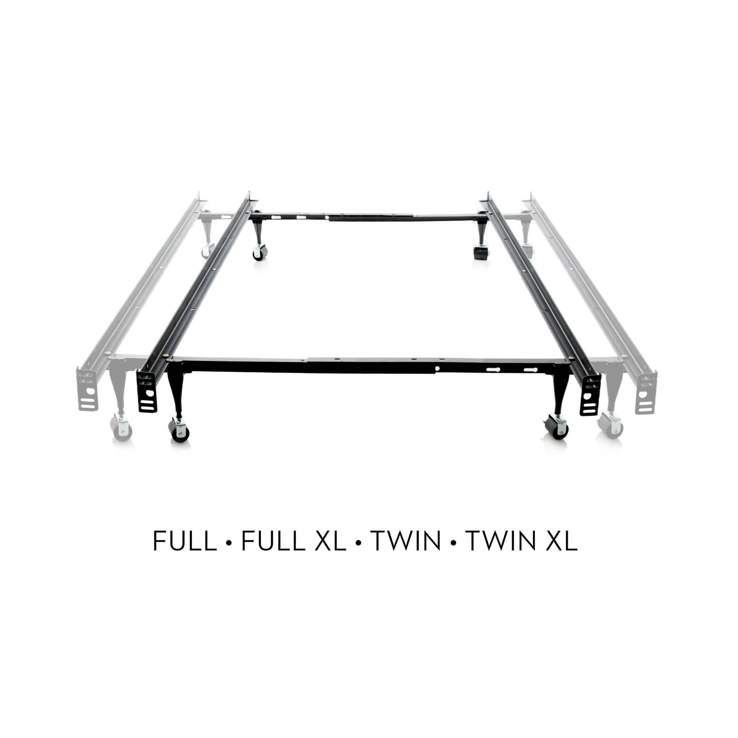 Twin/Full LT Adjustable Bed Frame Wheels - Ultimate Comfort Sleep