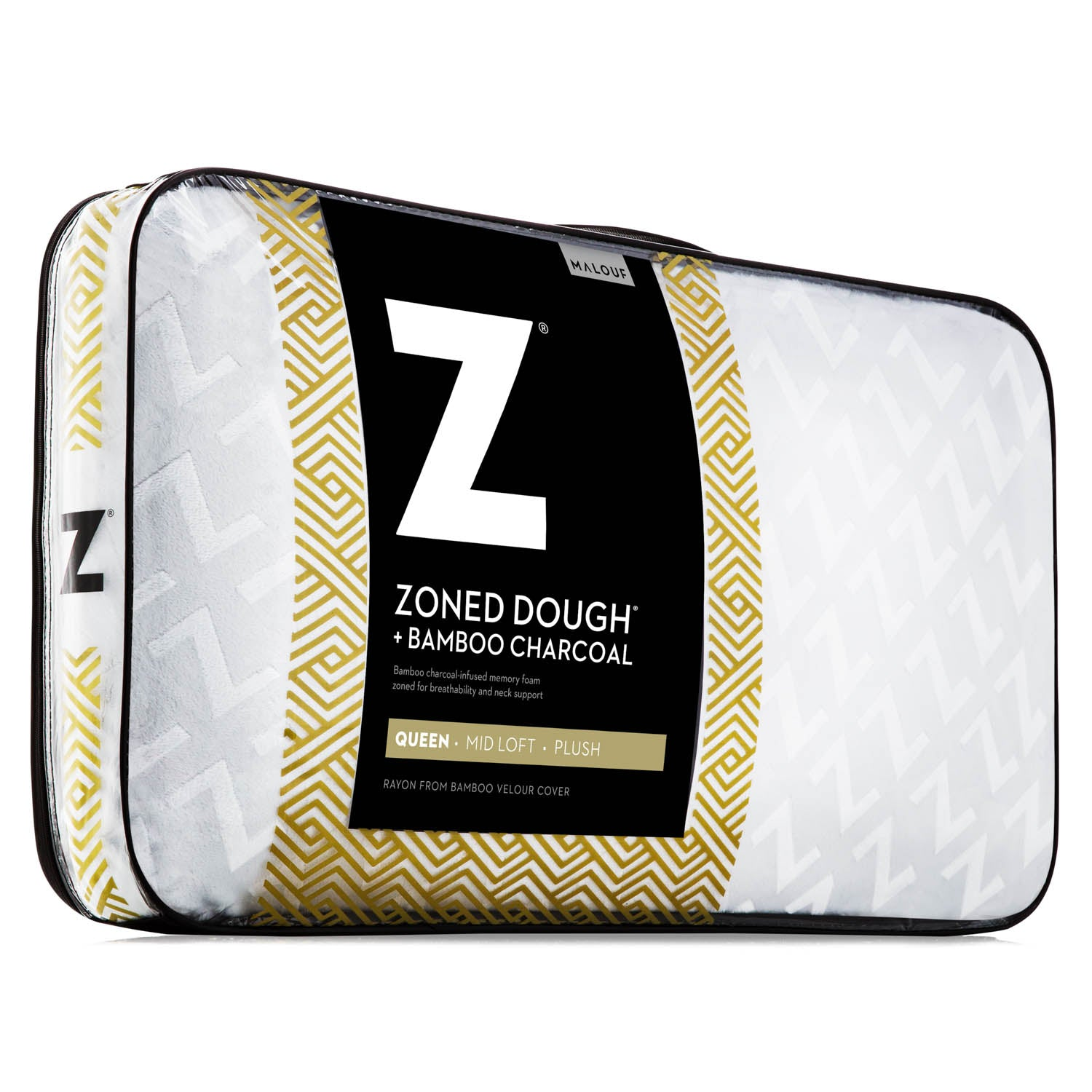 Zoned Dough + Bamboo Charcoal Pillow - Ultimate Comfort Sleep