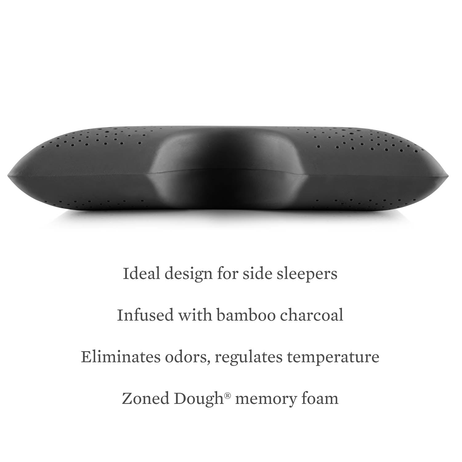 Zoned Dough + Bamboo Charcoal Cutout Pillow