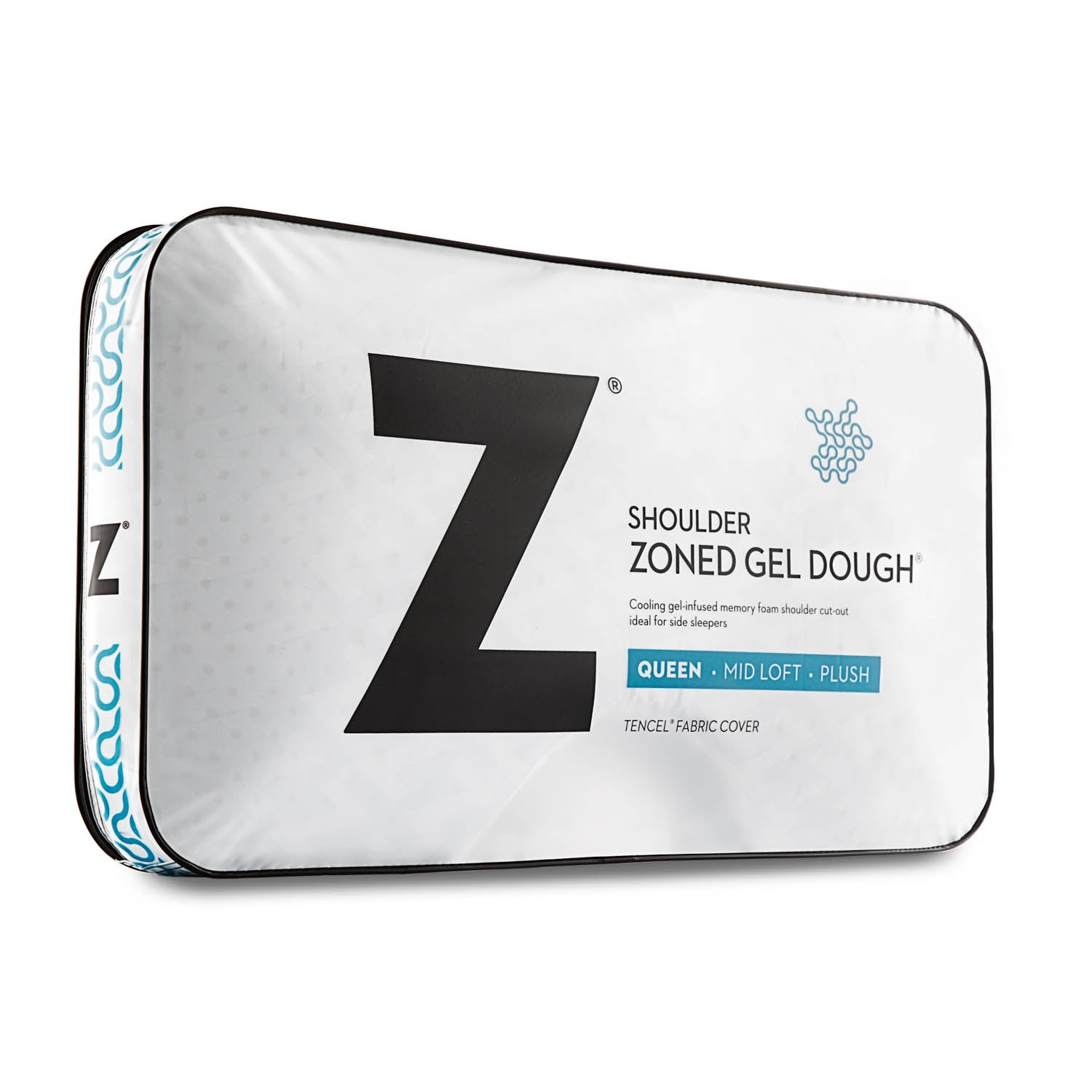 Zoned Gel Dough Shoulder Cutout Pillow