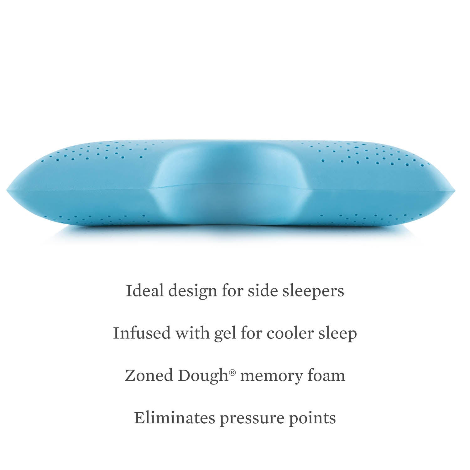 Zoned Gel Dough Shoulder Cutout Pillow - Ultimate Comfort Sleep