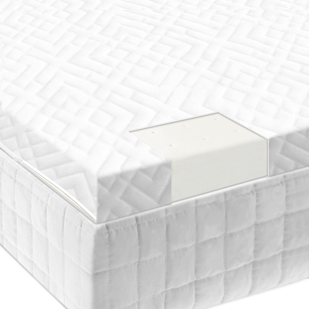 "2"" Latex Foam Mattress Topper - Ultimate Comfort Sleep"
