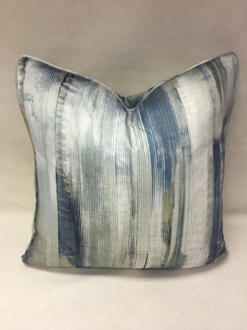 Harlequin  Blue,Grey,Beige and Design Pillow Cover, Eurosham or Lumbar Pillow Accent Pillow, Throw Pillow
