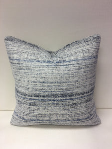 Duralee Blue White Navy Check  Design Pillow Cover, Eurosham or Lumbar Pillow Accent Pillow, Throw Pillow