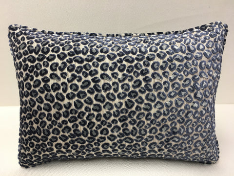 Thibaut  Beige, Blue, Grey, Tan Velvet Design Pillow Cover, Eurosham or Lumbar Pillow Accent Pillow, Throw Pillow