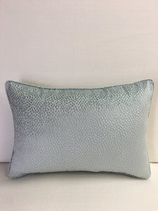 Cowtan and Tout Light Blue Velvet Design Pillow Cover, Eurosham or Lumbar Pillow Accent Pillow, Throw Pillow
