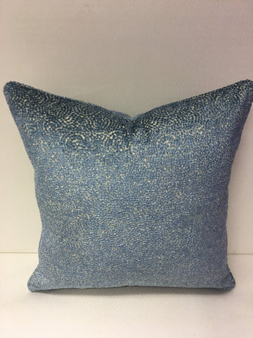 Colefax and Fowler Blue Beige and Design Pillow Cover, Eurosham or Lumbar Pillow Accent Pillow, Throw Pillow